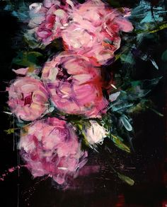 Gorgeous Palette Knife Paintings of Flowers by Carmelo Blandino//