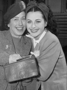 Hedy Lamarr with her mother Gertrude Kiesler, 1942