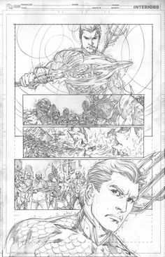 Justice League 17 page 25 - Ivan Reis (pencils only - rare!) Comic Art