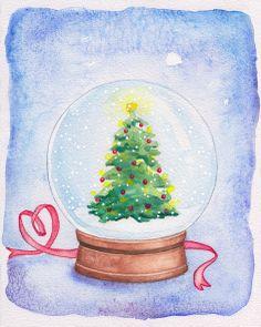 Artwork made by Johanna Ollila inspired by Josh Lanyon's Christmas Codas (see: Merry Christmas, Darling! My Dear Friend, Web Banner, Cover Art, Snow Globes, Merry Christmas, Inspired, Drawings, Illustration, Artwork