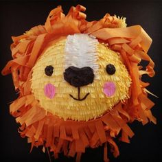 pinata anniversaire en forme de tête de lion pour petit garcon, comment faire une pinata originale