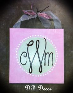 12x12 canvas...sweet baby shower gift to welcome a new little one.  Visit facebook.com/DBDecorAR to see more cute stuff!
