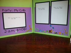 Party  My Crib Pre Made 12 x 12  2 Page by aSavvyScrapbooker, $10.00