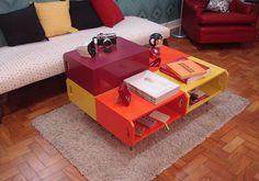 """""""Tangerina"""". Design feito com caixotes de feira."""