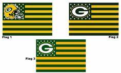 Packers Stars and Stripes Premium Team Football Flag