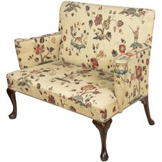 Upholstered Walnut Queen Anne Settee, England, circa 1760 | From a unique collection of antique and modern settees at http://www.1stdibs.com/furniture/seating/settees/