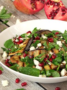 Grilled+Eggplant+Pomegranate+Salad