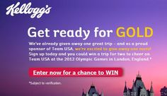 Enter to #win a trip to the Olympics from Kelloggs!