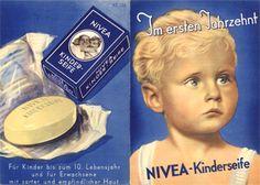 1934: Zur Pflege sehr sensibler Baby- und Kinderhaut entwickelt NIVEA eine spezielle Seife für Kinder als Vorläufer der vielen, später noch entwickelten Produkte speziell für junge Haut. #nivea #history