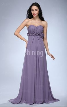 Lavender A-line Floor-length Sweetheart Dress
