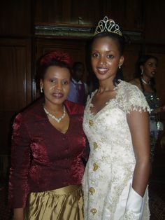 Princess Ruth Komuntale with her mother Queen Best Kemigisa on the evening of her wedding party.