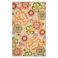 Add+a+splash+of+spring+style+to+your+living+room,+porch,+or+patio+with+this+hand-hooked+indoor/outdoor+rug.++  Product:+Rug