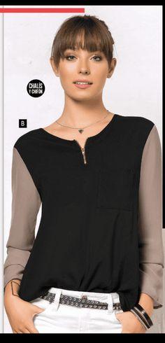Blusa M/L PCFK Negra  Ref 505654 Talla XS S M Precio $ 39.999   Elaborada en chalís y chifon, silueta amplia