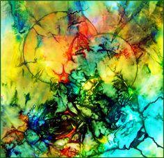 Mistero 90×80 seta dipinta su tela 2006 Please like and share onFacebook,Twitter, PinterestandGoogle plus