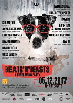 Beats'n'Beasts - A Fundraving Party: This is aCHARITY PARTY!All profits will go to the Berlin animal shelter (TierheimBerlin).…