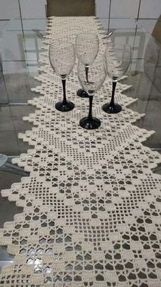 Granny Square Runner Pattern Diagram and Inspiration Crochet Table Runner Pattern, Crochet Doily Patterns, Crochet Tablecloth, Crochet Chart, Thread Crochet, Crochet Motif, Crochet Doilies, Crochet Stitches, Crochet Home