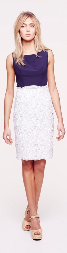 Collette Dinnigan Resort 2014...love the cut out design in this skirt.