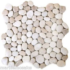 White Tan Natural Pebble Tiles direct from the importer Each m2 contains eleven 300mm by 300mm tiles for a incredible price off only pound 26 99 per
