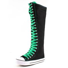 West Blvd Womens Sneaker Knee High Lace Up Boots - List price: $45.99 Price: $17.01