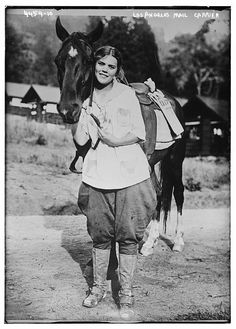"""losangelespast: """" Los Angeles Mail Carrier, 1900. From a series by the Bain News Service. """""""