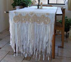 Bride and Groom Table Runner by FunkyJunkyArt