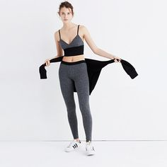 """Inspired by the Japanese concept of """"one-mile wear,"""" Mile(s) by Madewell is a collection for all the stuff you do close to home—the post-workout hangs, the neighborhood coffee strolls, the couch marathons. Made of soft fabrics in sleek shapes, it's your new weekend-starts-now uniform. Take this cropped cami top—both sexy and low-key, it pairs perfectly with matching colorblock leggings. <ul><li>Fitted, cropped.</li><li>Cotton/spandex.</..."""