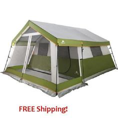 Tent 10 Person Family Cabin Screen Porch Camping Hiking Backpacking Outdoor Gear