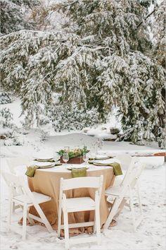 winter table decor ideas