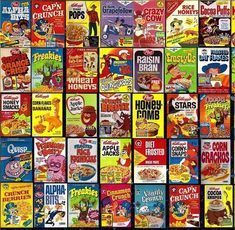 Cereals from the good old days!