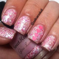 Glitter Lambs- SweetHeart Glitter Nail Polish Swatch by Selina Rockell