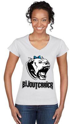 Dámske tričko BijouTerrier - biele