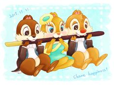 Funny Drawings, Disney Drawings, Disney Face Characters, Disney Movies, Chip And Dale, Mickey Mouse And Friends, Disney Fan Art, Chipmunks, Disney Cartoons