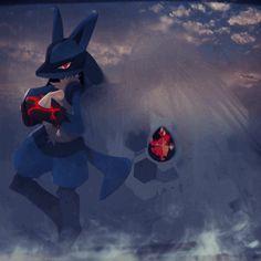Mega Lucario, Lucario Pokemon, Ash Pokemon, Pokemon Fan Art, Cool Pokemon, Pikachu, Pokemon Stuff, Best Pokemon Ever, Godzilla Wallpaper