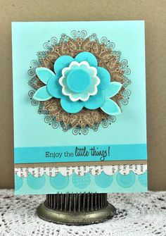 Enjoy the little things card by Dawn McVey for PTI (November 2011).