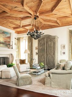 #pecky #cypress #ceiling - summerfield - Carole Weaks & Susan Massey