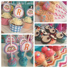 Owl Party Ideas   Owl Cupcake Tutorial   Owl Birthday Party Love the rice crispie treat pops #BeautifulBabyShower
