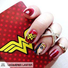 Lacquered Lawyer | Nail Art Blog: Wonder Woman