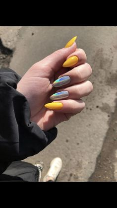 55 special summer nail designs for exceptional look best nails for spring 2019 5 - Nail Art Ideas Aycrlic Nails, Nail Manicure, Hair And Nails, Nail Polish, Matte Nails, Stiletto Nails, Glitter Nails, Best Acrylic Nails, Acrylic Nail Designs
