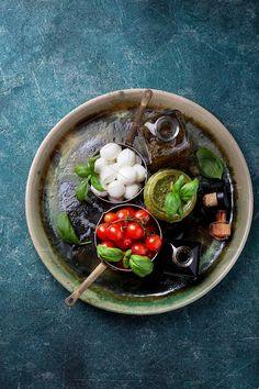 Ingredients for Caprese Salad by teelesswonder on @creativemarket