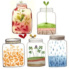 Jars Painting By Golly Bard