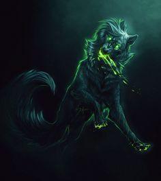Makoce the toxic wolf Foto Fantasy, Fantasy Wolf, Dark Fantasy Art, Anime Wolf, Furry Wolf, Furry Art, Tier Wolf, Wolf Deviantart, Demon Wolf