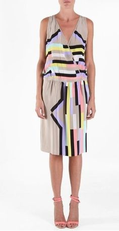 tibi wrap dress wear