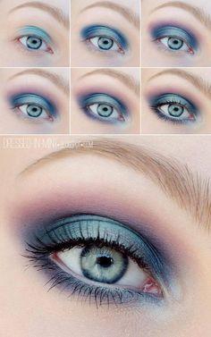blue eye make up Makeup Geek, Skin Makeup, Makeup Inspo, Makeup Inspiration, Makeup Tips, Beauty Makeup, Makeup Ideas, Makeup Remover, Makeup Brushes