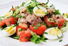 Салат с тунцом | Домохозяйка