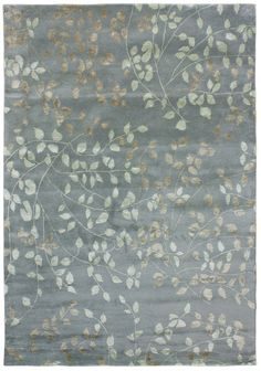 This rug is hand-tufted in India using wool and viscose with a great take on a modern transitional nature pattern.
