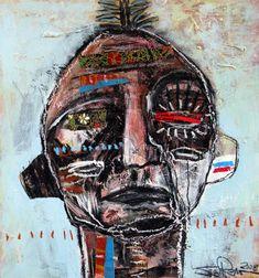 jesse reno - contemporary outsider art brut, selftaught raw art outside the establishment Abstract Faces, Abstract Portrait, Modern Art, Contemporary Art, Art Brut, Afro Art, Naive Art, Aboriginal Art, Outsider Art