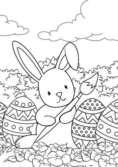 Easter coloring pages - Uskrs bojanke za djecu - Free printables, Easter bunny, eggs, chicks and more on BonTon TV - Coloring books Easter Coloring Sheets, Easter Bunny Colouring, Bunny Coloring Pages, Colouring Pages, Coloring Pages For Kids, Coloring Books, Easter Coloring Pictures, Valentines Day Coloring Page, Colorful Drawings