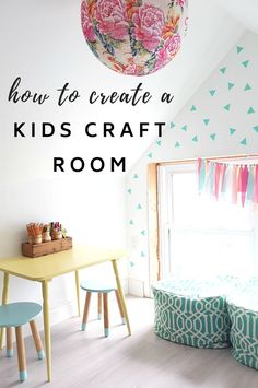 How to create a cute kids craft room diy home decor pinteres Cheap Apartment For Rent, Cute Kids Crafts, Kids Fun, Diy Crafts, Farmhouse Side Table, Diy Décoration, Living At Home, Do It Yourself Home, Diy Room Decor