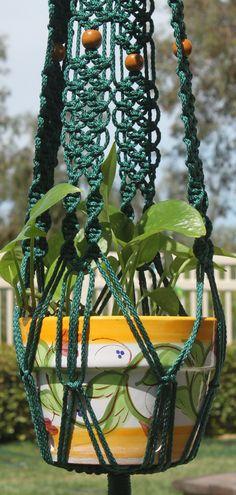 ENCHANTMENT #Handmade #Macrame Plant Hanger in FOREST GREEN by #ChironCreations http://etsy.me/2ak9lg7 via @Etsy #home #yard #decor #patio #backyard #garden #retro #boho #70s #throwback #nostalgia