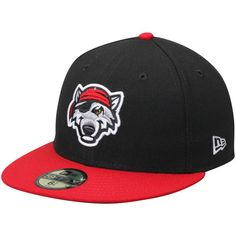 Erie SeaWolves New Era Alternate Authentic Collection 59FIFTY Fitted Hat - Black